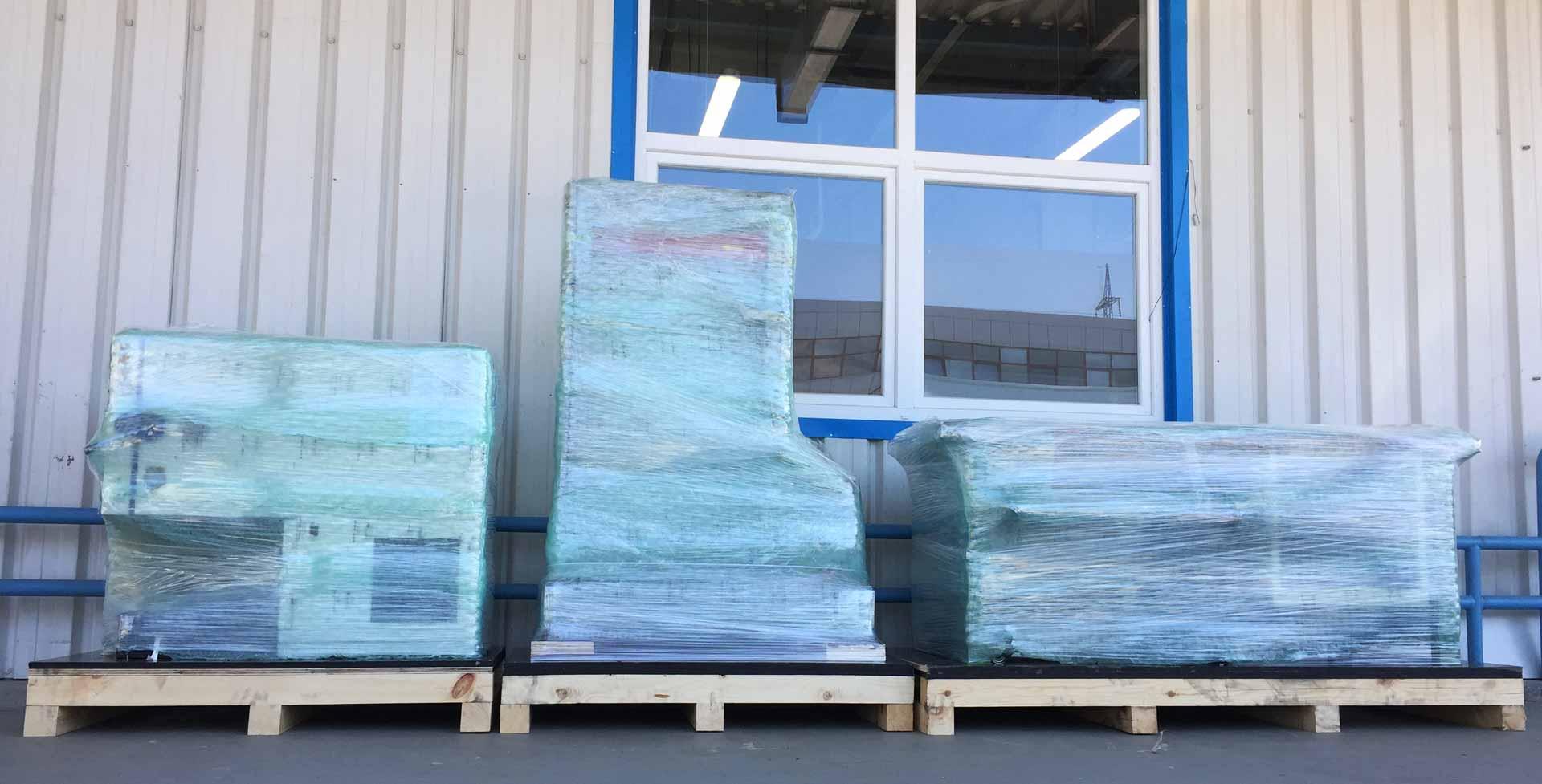 Опаковане на стоки и товари за сухопътен транспорт